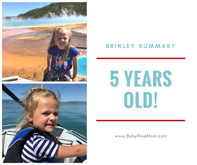 Brinley Summary: 5 Years Old!