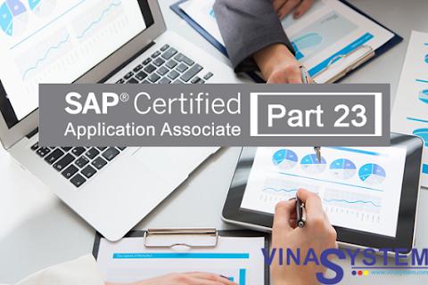 Bộ câu hỏi chứng chỉ SAP Business One (Phần 23)