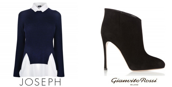 Crown Princess Mary's JOSEPH Merino Knit Jumper And GIANVITO ROSSI Ankle Boots