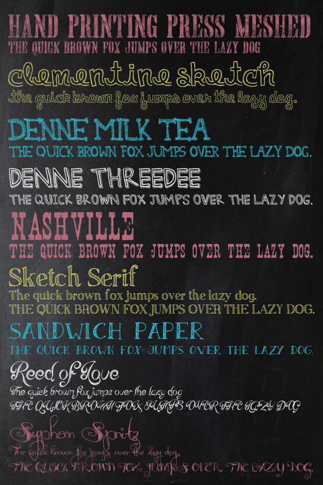 Chalk Font List Two