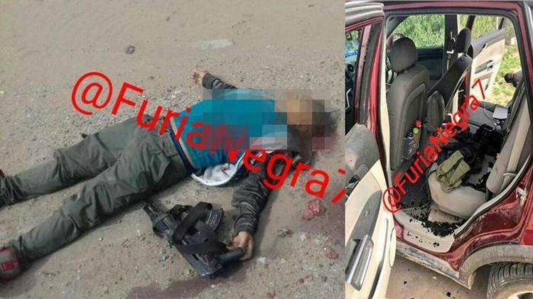 Fotos, Fuerza Tamaulipas se enfrentan y abaten a dos sicarios que escapaban en una camioneta en Tamaulipas