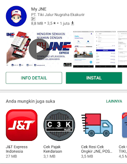 Aplikasi JNE Android