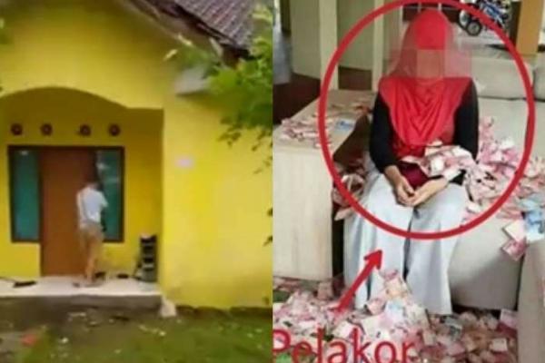 Setelah Tabur Uang, Istri Sah Ngamuk di Depan Rumah Pelakor
