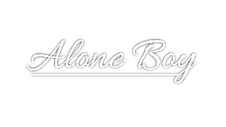 alone boy text png