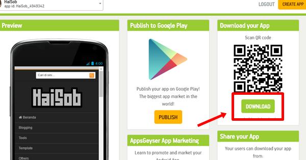 Cara Membuat Aplikasi Web/Blog Android 4