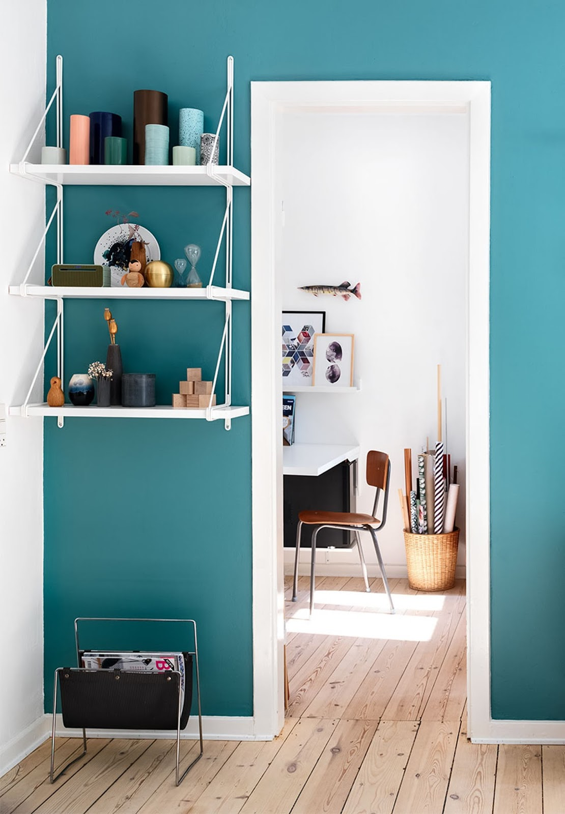 teal wall, interior design, home decor, diy ideas,