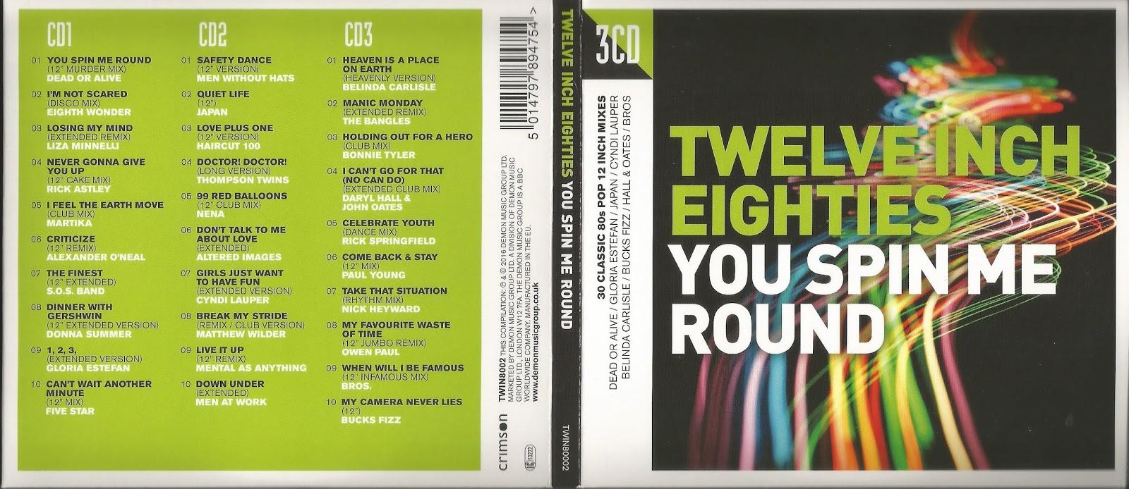 Missing Hits 7 Twelve Eighties You Spin Me Round 3 Cds Resubidos
