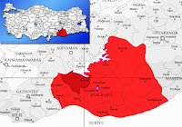 Bozova ilçesinin nerede olduğunu gösteren harita.