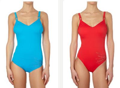 Bañador en color azul o rojo