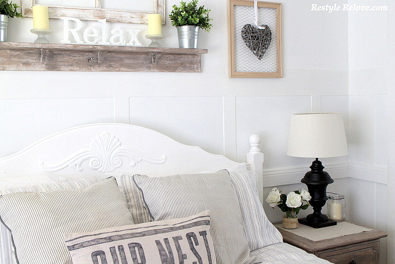 New Rustic Farmhouse Bedside Lamps in the Master Bedroom