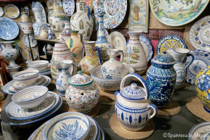 Madrid Spain Ceramica スペインのマドリードにある陶芸専門店内