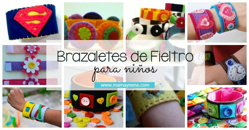 BRAZALETE-BRACELET-FIELTRO-MANUALIDADES-NIÑOS-DIY-FELT-MAMAYNENE-MATERNIDAD
