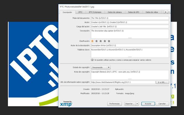 Estándar de metadatos de fotos IPTC