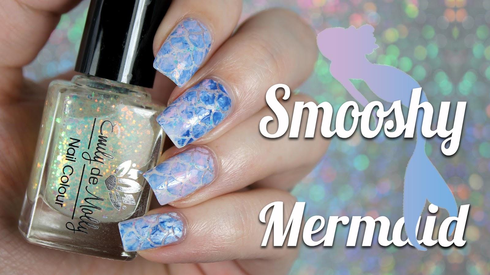 Bedlam Beauty: Smooshy Mermaid Nail Art