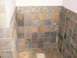 Grouted Wall Slate With Design Strip