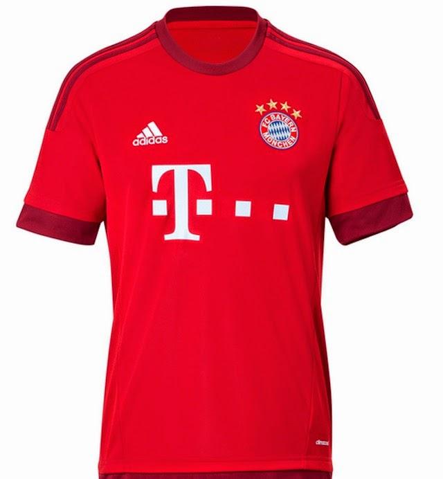 Oficial  Camiseta titular Adidas del Bayern Múnich 2015 2016 - Nuevo ... ea268f6e22c05