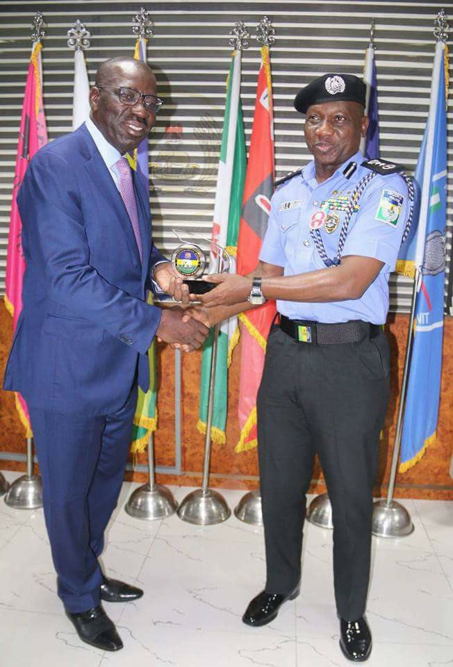Edo State governor Obaseki visits IG of Police