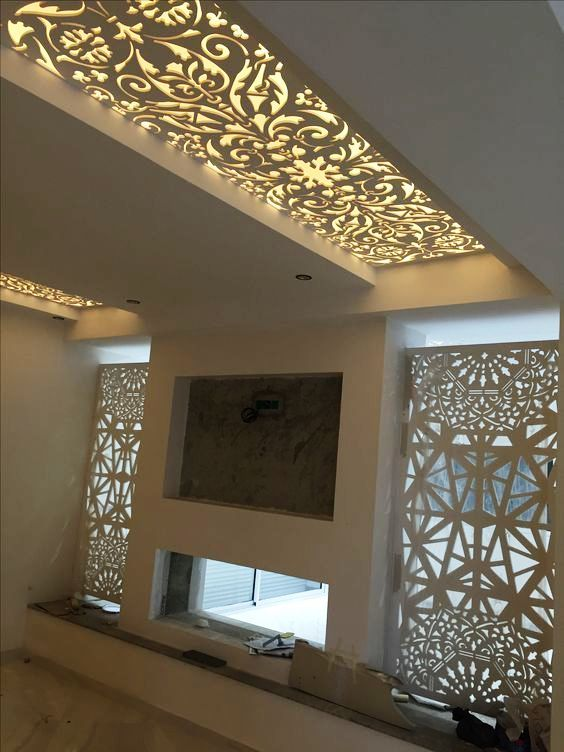 False Ceiling Designs For Living Room With Two Fans Simple