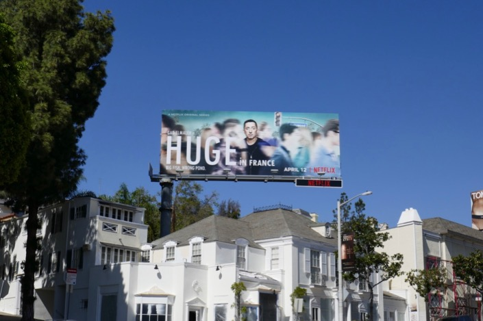 Huge in France Netflix billboard