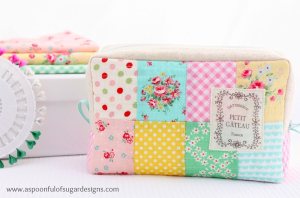 Lecien Fabric Patchwork DIY Pencil Box Pouch Tutorial -  From a massive list of 16 Awesome Free Pencil Case Tutorials!
