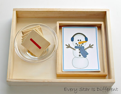 Building a snowman sequence activity with free printable