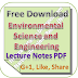 Environmental Science and Engg Lecture Notes PDF