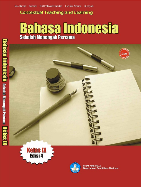 Download Buku Siswa KTSP SMP dan MTs Kelas 9 Bahasa Indonesia Kelas IX