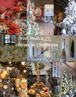 Décors Noël 2018 château de Chenonceau Noel Médicis Cristal de Sèvres cher loire visite