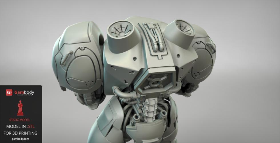 3D design of Terran Marine