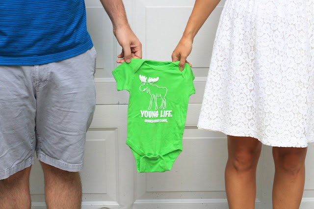 Pregnancy Announcement Photo, Baby Onezie, Younglife