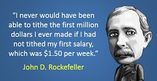 John D Rockefeller on Tithing