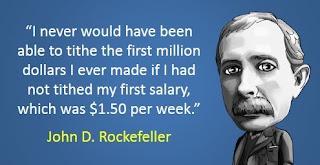 John D Rockefeller on Tithing