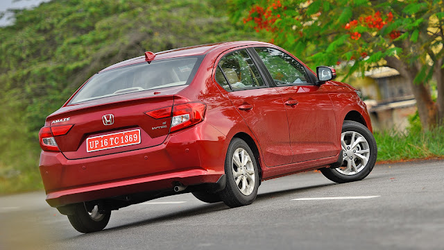 Honda amaze images Back side