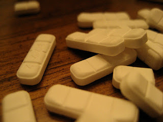 A photo of Xanax pills.