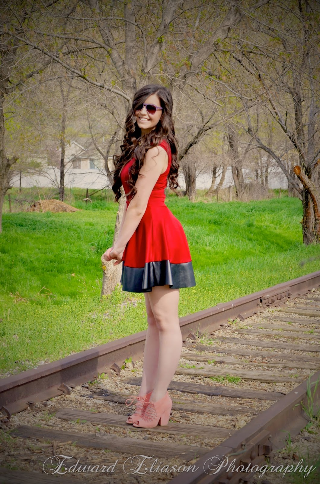 raspberry skater dress, style scan, little red dress, LRD, pretty, long curly hair, style scan app, style, outfit, fashionista, red dress outfit, red dress with leather pleats,