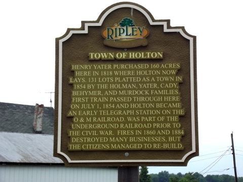Holton, Indiana Historical Marker