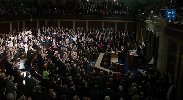 Ryan Owens standing ovation State of the Union 2017 break record Joint Address to Congress