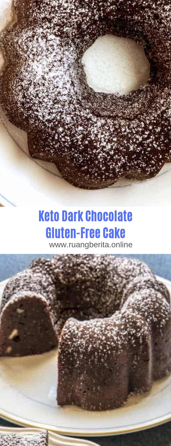 Keto Dark Chocolate Gluten-Free Cake
