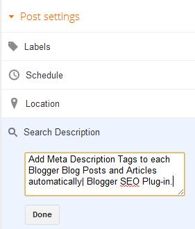 Add Meta Tags To Blogger Blog Posts