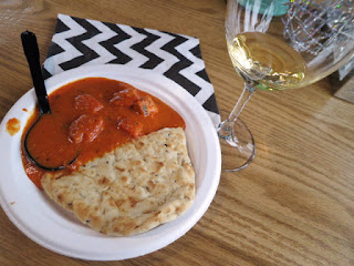 Butter Chicken and Naan with 2012 Fielding Riesling Icewine