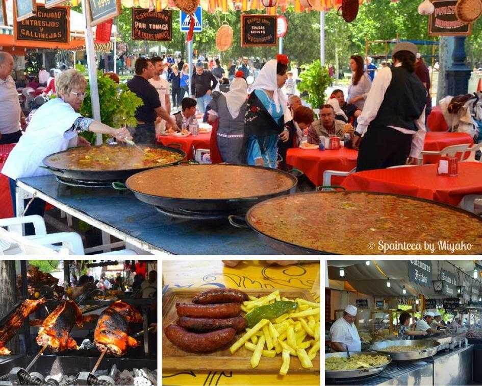 Fiestas San Isidro en Madrid マドリードのサンイシドロ祭りの巨大パエリア!