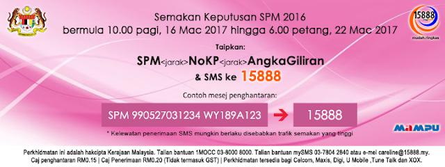 Keputusan SPM tahun 2016