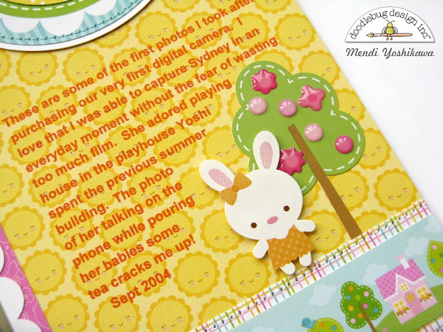 Doodlebug Designs Bunnyville Play House Home Themed Layout by Mendi Yoshikawa