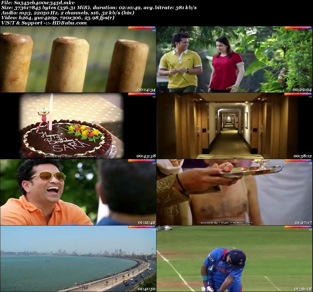 Sachin A Billion Dreams (2017) Hindi HDTV - 480p - x264 - 350MB Screenshot