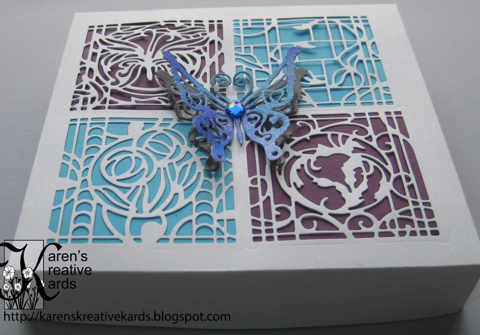 Karen S Kreative Kards Patchwork Perfection Butterfly Boxes