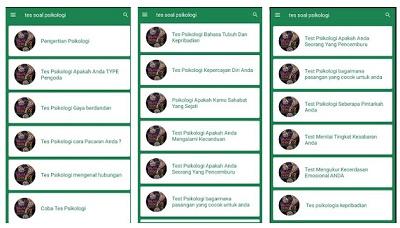 aplikasi android tes kepribadian