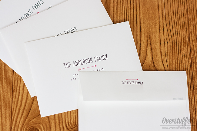 Addressing Christmas cards takes forever! Why not let minted do it for you? For free?