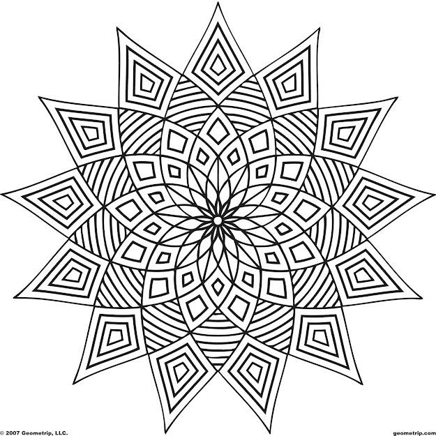 Geometric Coloring Pages  Lots Of Pages To Download Printout And Color  On This