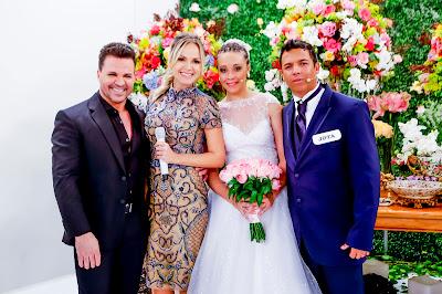 Eduardo Costa, Eliana, Jota e sua esposa. Crédito: Gabriel Cardoso/SBT