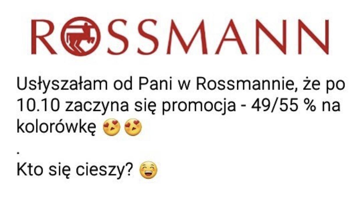 (PLOTKA) Nowa promocja na kolorówkę w Rossmannie po 10 Października 2017